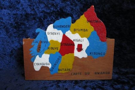 Kaart Rwanda