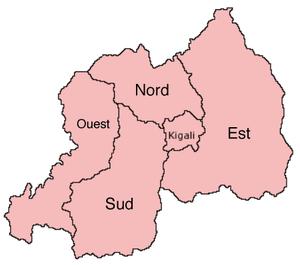 Rwanda 5 provincies