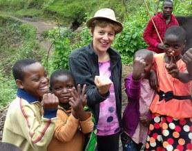 Kinderen in Rwandese heuvels